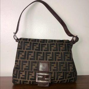 Vintage fendi mama baguette handbag zucca print